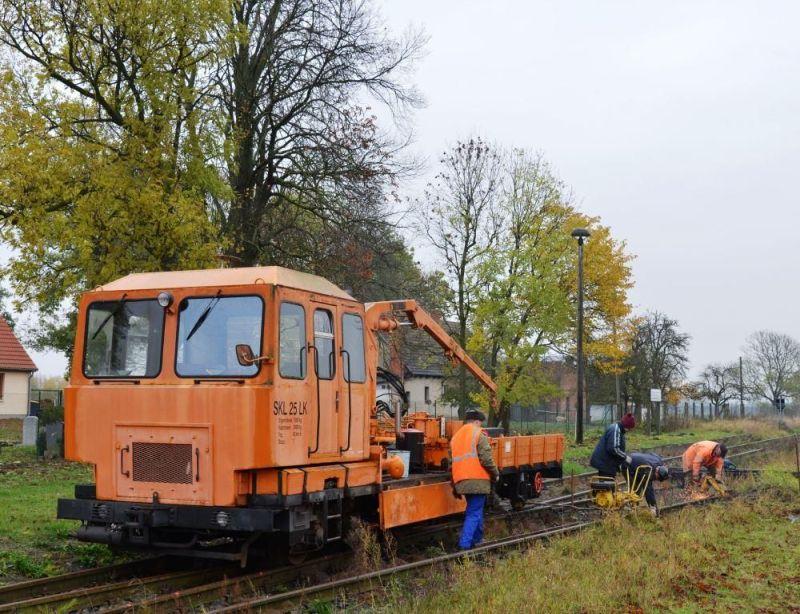Gleisbauarbeiten am Hp Eickstedt 2
