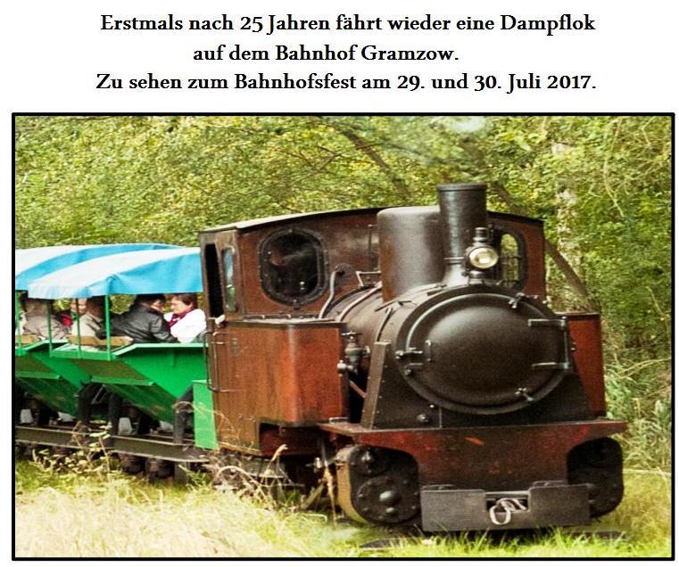 Dampflok zum Bahnhofsfest 2017 - Werbung